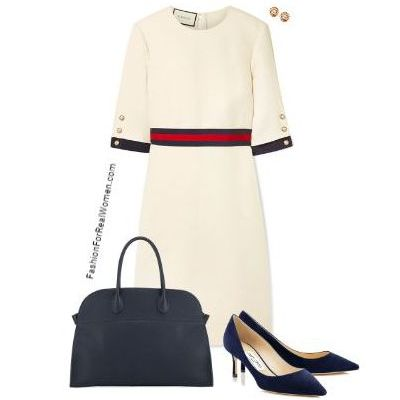 White wool dress