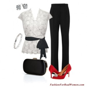 Lace Top With Pants