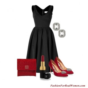 LBD with Red Accessories