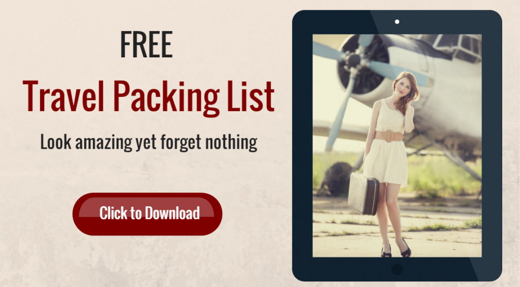 Click to download my FREE Travel Packing List