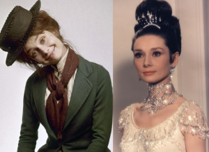 "Audrey Hepburn as Eliza Doolittle in ""My Fair Lady."""