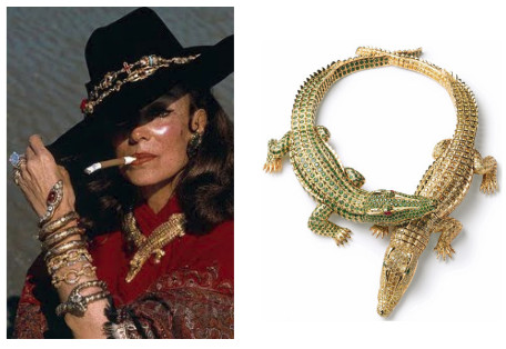 Maria Felix commissioned the crocodile necklace in 1975