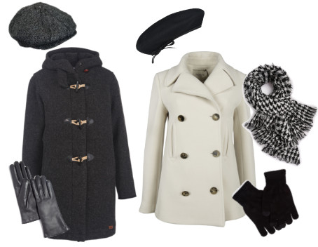 Casual coats and hats