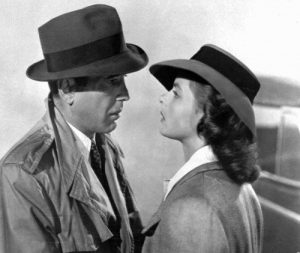 "Humphrey Bogart and Ingrid Bergman in ""Casablanca."" (1942)"