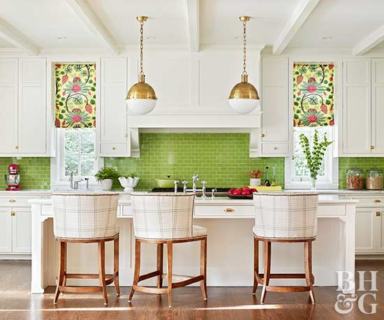 Greenery Kitchen Tile