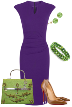 Purple with greenery color of the year