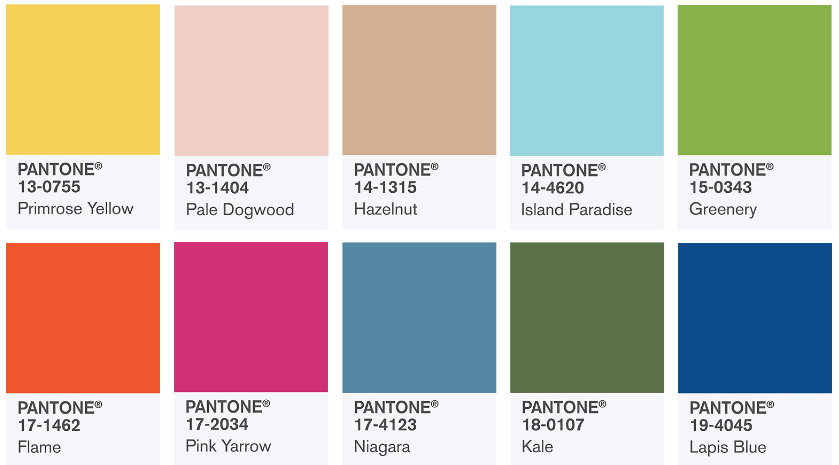 Pantone Color Report Spring 2017