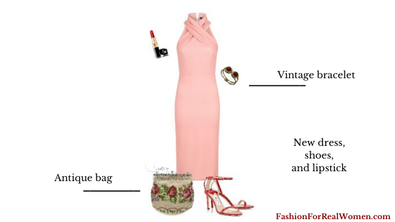 Vintage Outfits Coral Dress