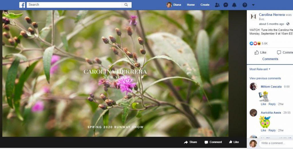 Carolina Herrera Facebook Spring 2020