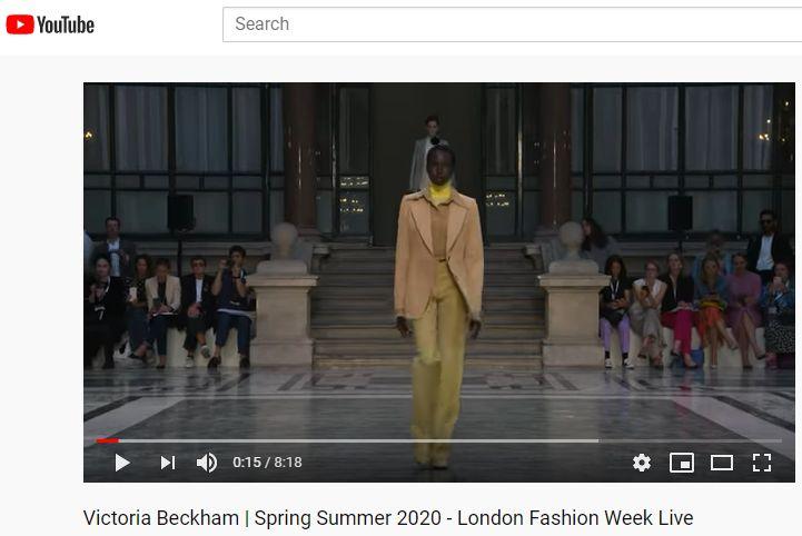 Victoria Beckham YouTube Spring 2020