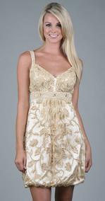 Gold cocktail dress