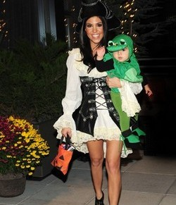 Kourtney Kardashian and son