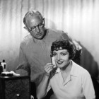 Max Factor and Claudette Colbert