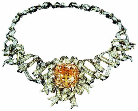 The Tiffany Diamond on the Ribbon Necklace