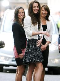 Kate Middleton with mother Carol and sister Pippa