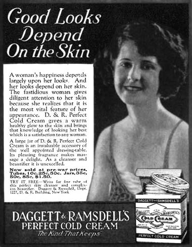Daggett and Ramsdell Ad, 1922