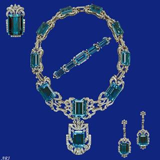 Queen Elizabeth II Aquamarine Parure