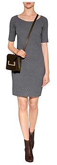 Gray Crochet Dress