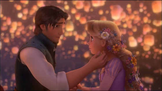 "Rapunzel and Flynn in ""Tangled"""