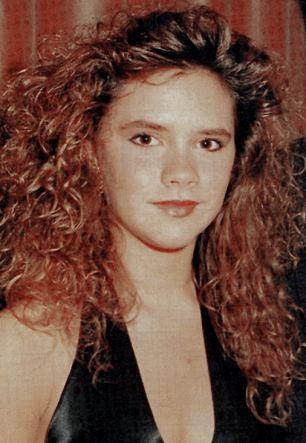 Victoria Adams at 16 in 1990