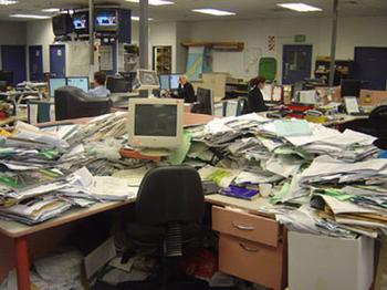 Dirty office = poor management