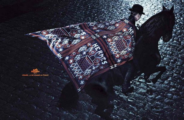 Hermes Scarf Ad