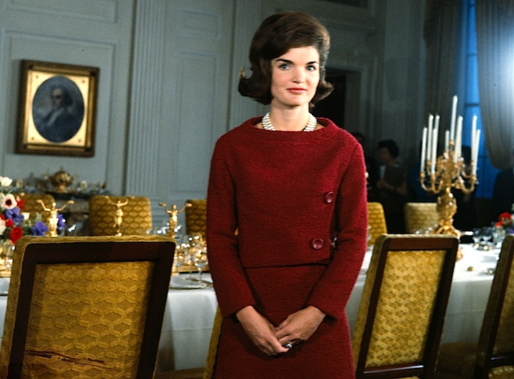 Mrs. Kennedy giving televised tour of the White House