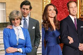 Lady Diana Spencer and Kate Middleton engagement pictures
