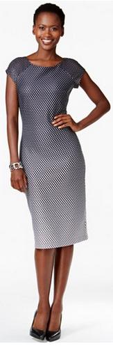 Ombre knee-high dress