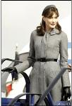 Carla Bruni-Sarkozy arrives in Great Britain
