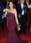 Carla Bruni-Sarkozy at a State dinner in London