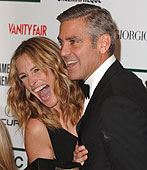George Clooney and Jula Roberts