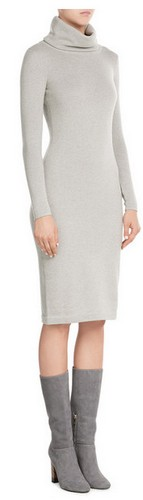 Cashmere Turtleneck Dress