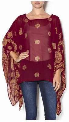 Asian-Inspired Poncho