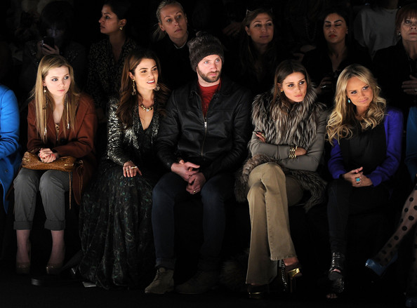 Celebrities in the front row of the Rebecca Minkoff Fall 2012 Fashion Week