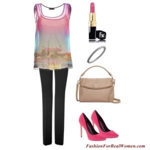 Pink Silkscreen Top
