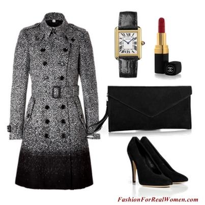 Black Ombre Coat
