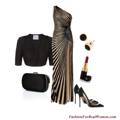 Black and Tan Gown