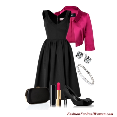 LBD with Pink Jacket