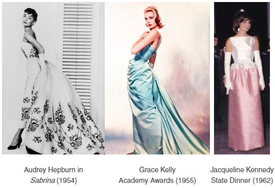 Audrey Heburn, Grace Kelly, Jacqueline Kennedy
