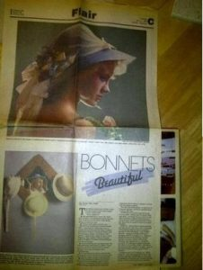 Diana Easter Bonnet Spread